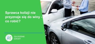 Sprawca kolizji drogowej nie przyznaje się do winy. Co zrobić?